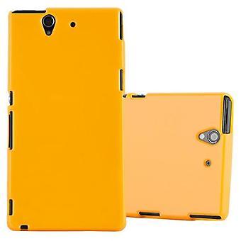 حالة Cadorabo لغطاء حالة حالة Sony Xperia Z - حقيبة هاتف سيليكون TPU مرنة - حالة السيليكون الواقية فائقة الناعمة الناعمة الغطاء الوفير