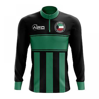 Kuwejt koncepcja piłki nożnej Half Zip Top Midlayer (czarno zielona)