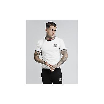 Sik Silk Off White Bound Ringer Gym T-shirt