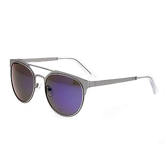 Breed Mensa Titanium Polarized Sunglasses - Silver/Blue