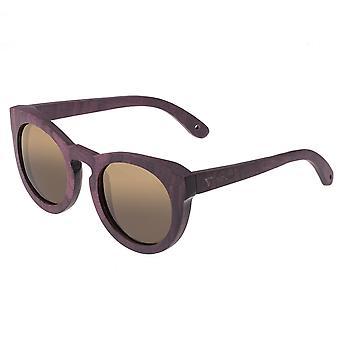 Spectrum Munro Wood Polarized Sunglasses - Purple/Brown