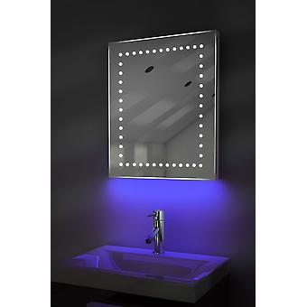 Shaver Mirror with UnderLighting, Bluetooth, Demist & Sensor k39sWaud