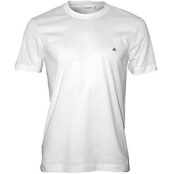 Calvin Klein CK brodert Logo Crew-hals t-skjorte, perfekt hvit
