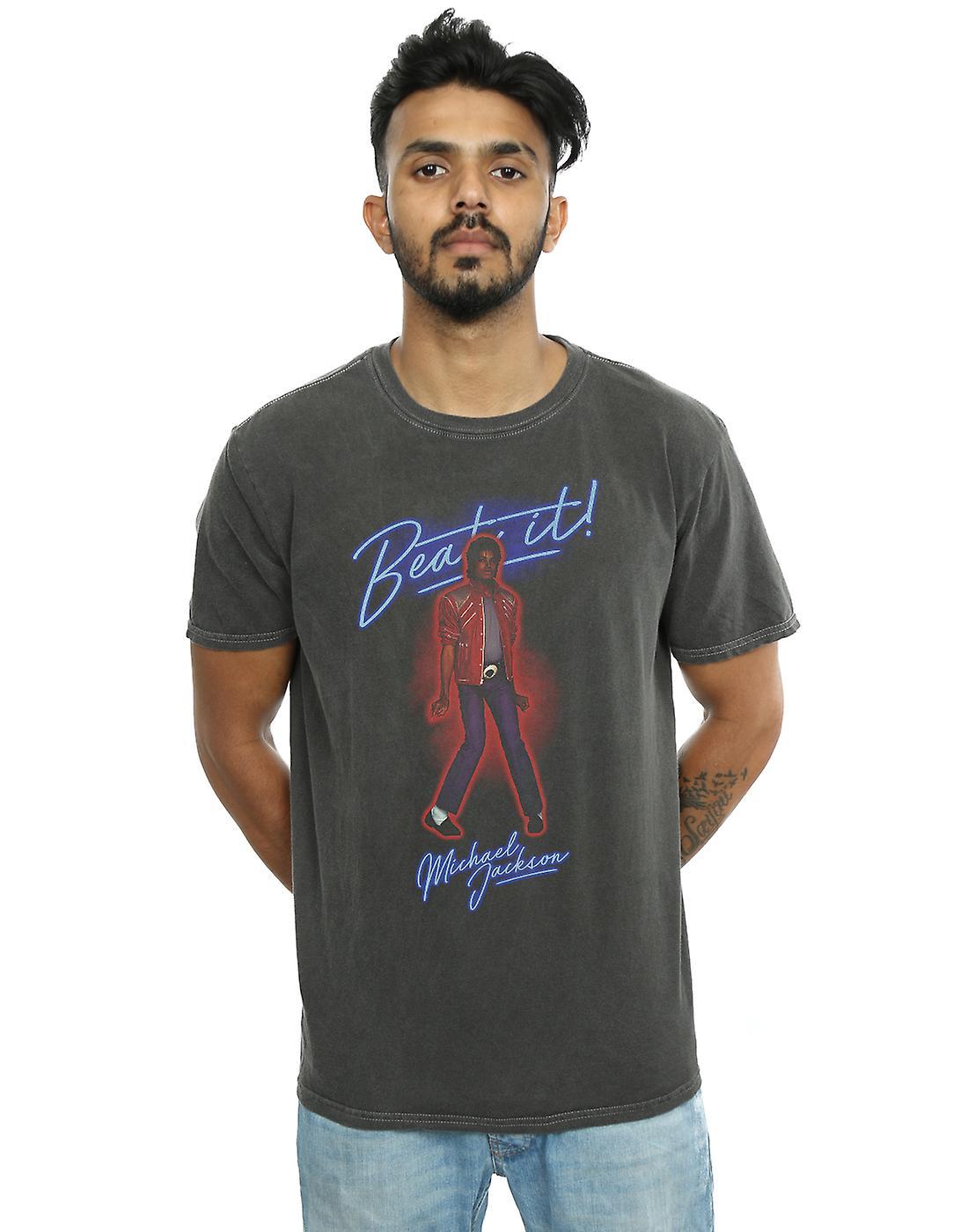 Michael Jackson Men's Beat It Smoke Washed T-Shirt