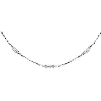 Bella Feather Anklet - Silver
