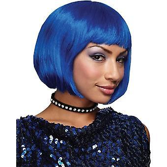 Blauwe Bob pruik voor volwassenen