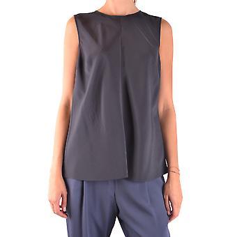 Brunello Cucinelli Ezbc002056 Women's Black Silk Top