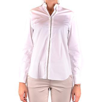 Brunello Cucinelli Ezbc002016 Women's White Cotton Shirt