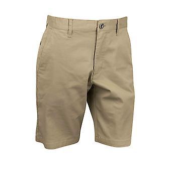 RVCA Mens VA Sport Wochenende erstrecken sich lässige Chino Shorts - Dark Khaki