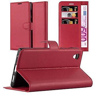 Cadorabo Hülle für Sony Xperia L1 Case Cover - Handyhülle mit Magnetverschluss, Standfunktion und Kartenfach – Case Cover Schutzhülle Etui Tasche Book Klapp Style