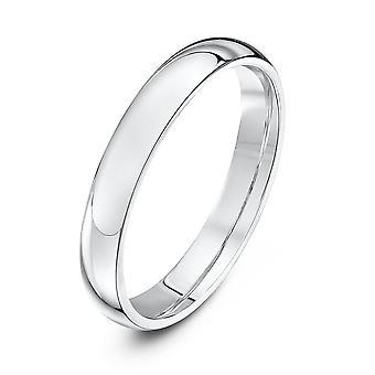 Star Wedding Rings Silver Heavy Court Shape 3mm Wedding Ring