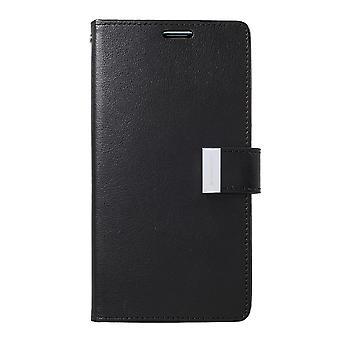 Mercury GOOSPERY Rich Diary voor Samsung Galaxy S10 +-zwart