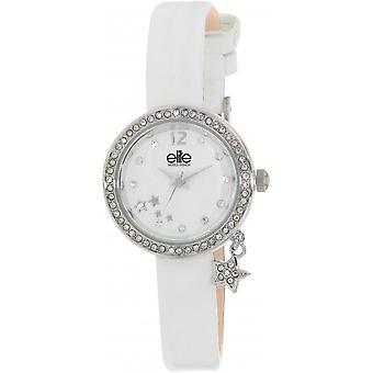 Elite E55092-201 - watch leather white woman