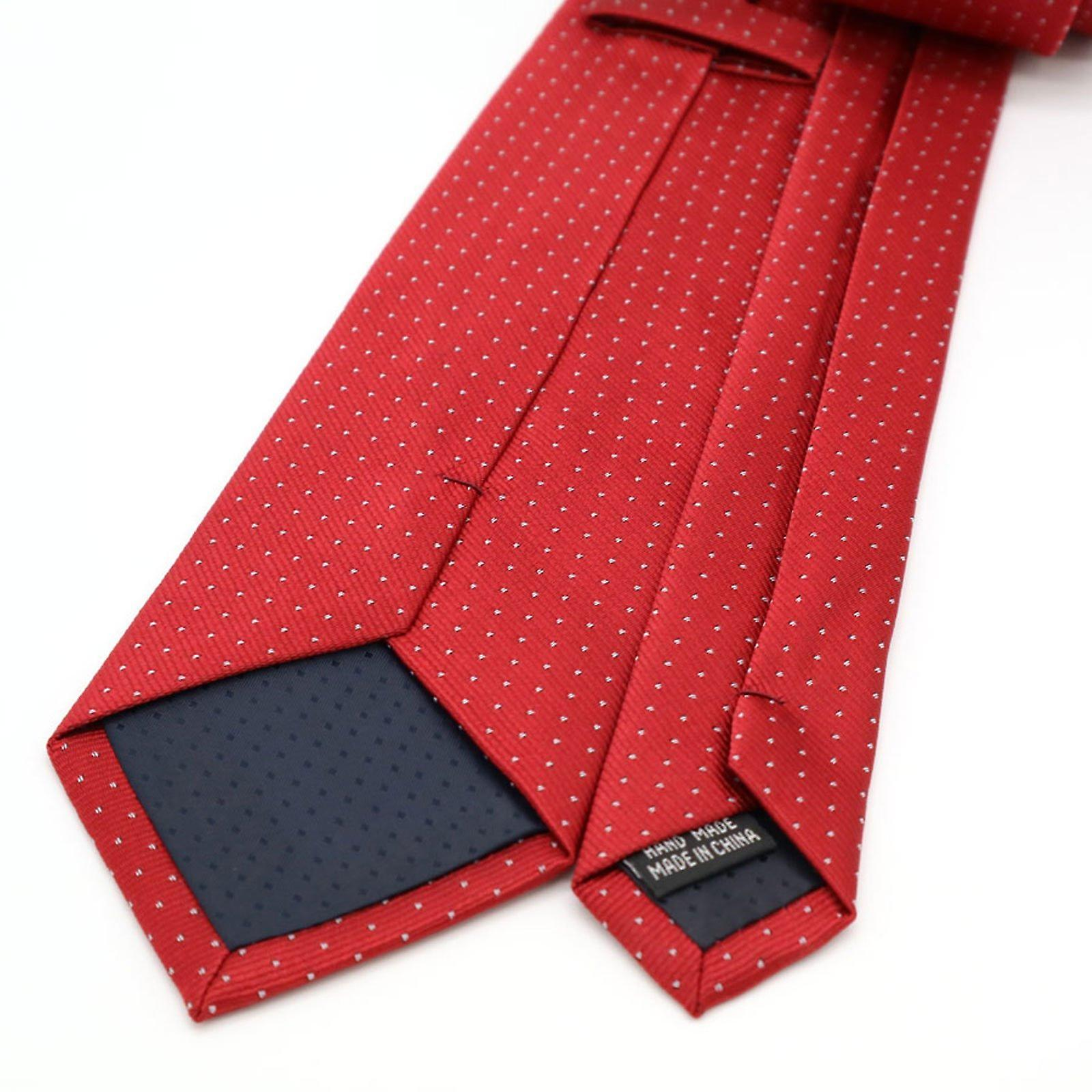 Strawberry red patterned tie & pocket square hanky set