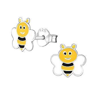 Children's Sterling Silver Busy Bee Stud Earrings