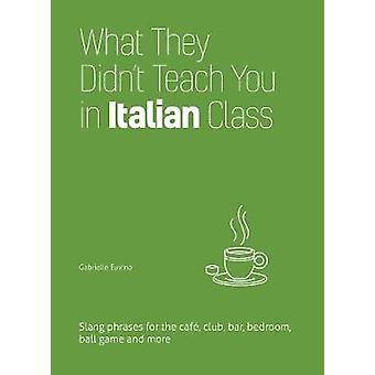 What They Didn't Teach You in Italian Class - Slang Phrases for the Ca