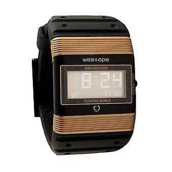 Wize and Ope Seventy Seven  Black and Gold Digital  Watch WO-77-1