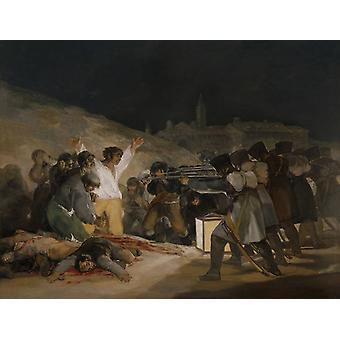 El tercer de mayo, Francisco Goya, 50x38cm