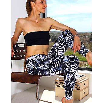 Black Jungle Wide Band Harem Pants