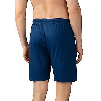 Mey 20750-664 Men's Lounge Neptune Blue Cotton Pajama Pyjama Short