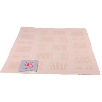 iStyle - Teslin Woven Placemat 30cm x 45cm - Cream Squares