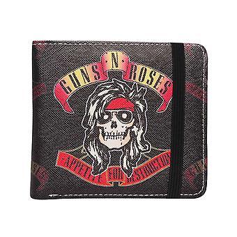 Guns N Roses portemonnee eetlust voor vernietiging band logo nieuwe officiële zwarte Bifold