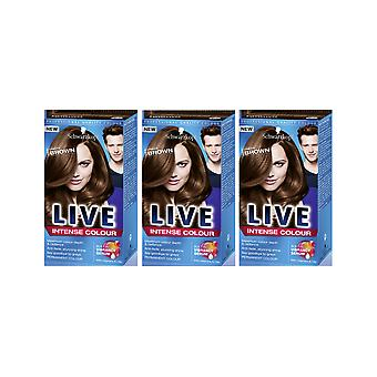 Schwarzkopf LIVE Intense 088 Urban Brown Pro Permanent Hair Colour Dye x 3