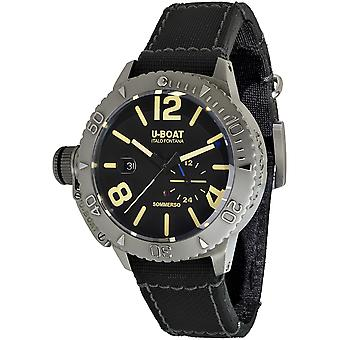 U-boat Sommerso Swiss Automatic Analog Men's Watch with 9007 Synthetic Leather Bracelet
