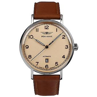 Iron Annieamazons Impression Watch for Men Analog Automatic with Cowskin Bracelet 5954-3