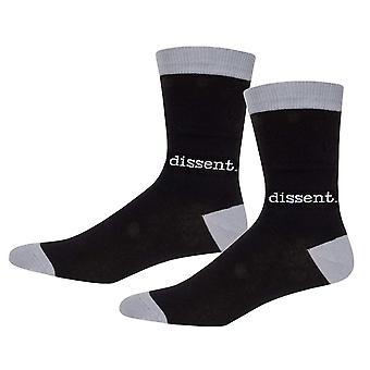 Socks - Archie McPhee - Dissent Black and Gray Men's New 12804