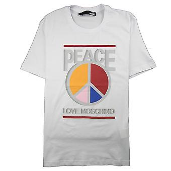 Love Moschino Paz Amor Camiseta Blanca