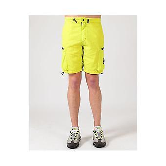 MARSHALL ARTIST Kledingstuk geverfd zwavel cargo shorts