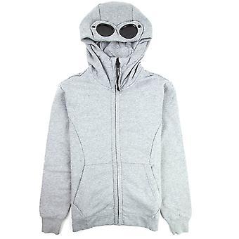 CP bedrijf diagonaal verhoogd fleece Goggle volledige zip hoodie grijs M93