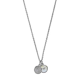 Emporio Armani Women's Chain in Stainless Steel with Crystal and Round Mother of Pearl