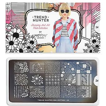 MoYou London Nail Art Image Plate - Trend Hunter 24 (MCTRE)