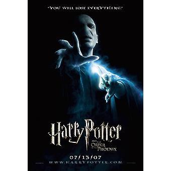Harry Potter ja Phoenixin järjestys (kaksipuolinen ennakko) (2007) alkuperäinen elokuva juliste
