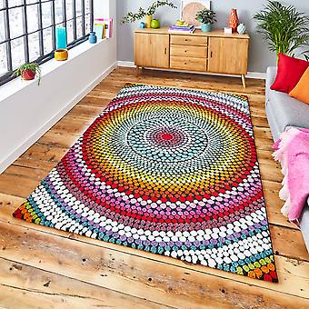 Mosaïque 22844 Multi Rectangle Rugs Funky Rugs