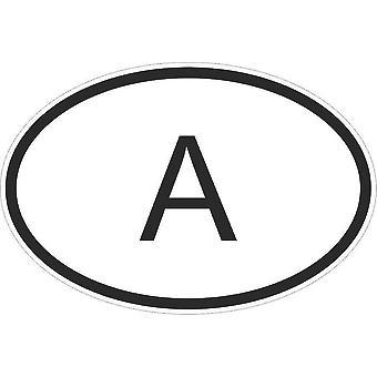 Pegatina pegatina etiqueta etiqueta etiqueta oval código país motorcar Austria A