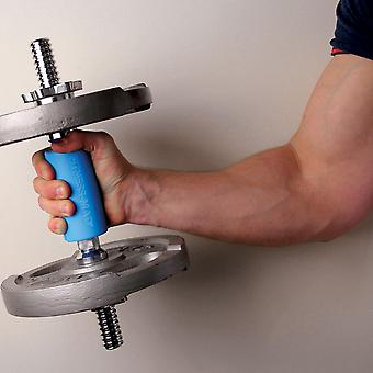 Fitness Mad Mega Bar Grip For Dumbbell Barbells & Cables Increased Grip - Blue