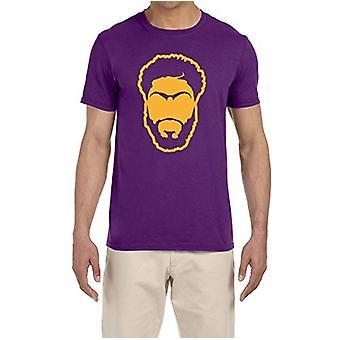 Tobin oblečenie Purple Los Angeles Davis Face T-shirt dospelé médium