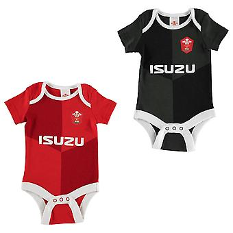Brecrest Kids Childrens 2 Pack Rugby Cotton Bodysuits Sports Mini Kit
