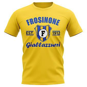 Frosinone etablerte fotball T-skjorte (gul)