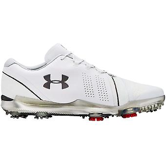 Under Armour UA Mens Spieth 3 GTX Wide EGolf Lace Up Trainers Shoes - White