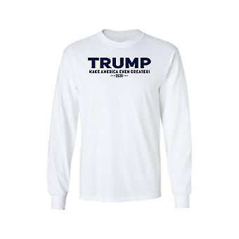 Unisex Trump Make America Even Greater Long Sleeve Shirt .