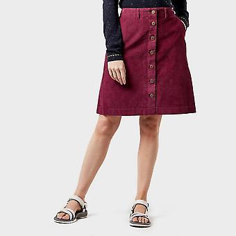 New Weird Fish Women's Winny Cord Skirt Purple
