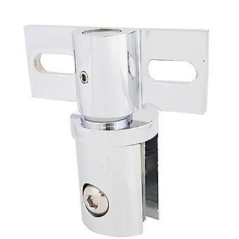 Петля на Саморез для душ стекла двери 6 мм до 10 мм стекло | Медь | Полированный хром