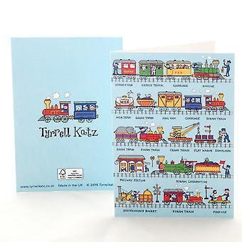 Tyrrell Katz Trains Greetings Card