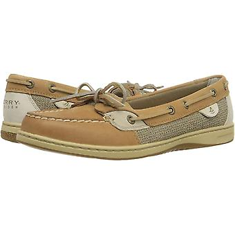 Sperry Womens ANGELFISH Leather Closed Toe Boat Shoes