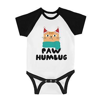 Paw Humbug Funny BKWT Baby Baseball Bodysuit X-mas Regalo