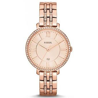 Fossiele ES3546 - JACQUELINE stalen Dor Rose vrouw horloge